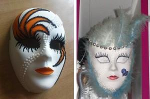 Beneški maski (dve izmed mnogih, ki so že razdane)