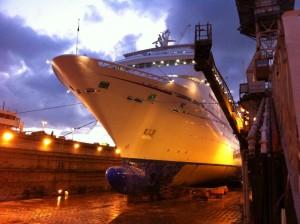 Carnival Sensation dry dock